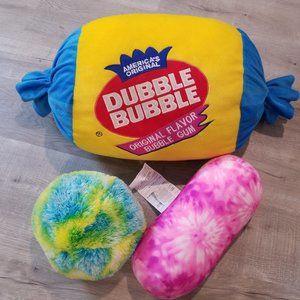 Dubble Bubble GUM pillow girls room decor  tie dye